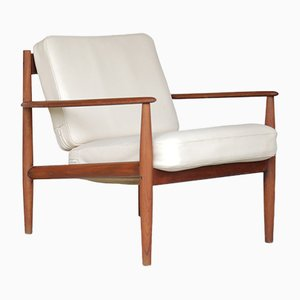 Vintage Solid Teak Armchair by Grete Jalk for France & Søn