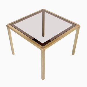 Hollywood Regency Style Brass and Glass Cocktail Table