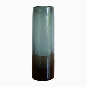 Vaso in vetro blu di Per Lutken per Holmegaard, 1962