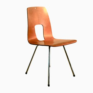 Mid-Century Swiss Einpunktstuhl Side Chair by Hans Bellmann for Horgen Glarus