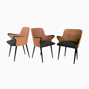 Italian P38 Armchairs by Osvaldo Borsani for Tecno, 1950s, Set of 3