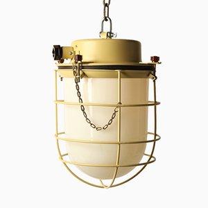 Lámpara Bull amarilla, años 40