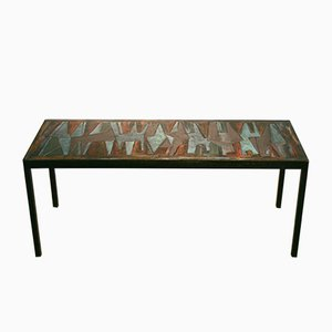 Table Basse Vintage Decorative en Email