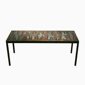 Tavolino da caffè vintage decorativo smaltato