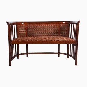 Canapé antiguo de madera curvada de Josef Hoffmann para Thonet