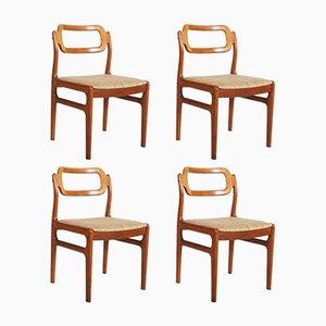Chaises en Teck de Uldum Mobelfabrik, Danemark, 1960s, Set de 4