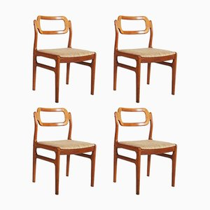 Dänische Teak Stühle von Uldum Møbelfabrik, 1960er, 4er Set