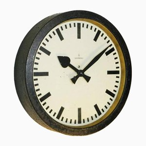Industrial Factory Clock from Siemens & Halske, 1950s