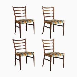 Dänische Palisander Esszimmerstühle von Johannes Andersen für SVA Møbler, 4er Set