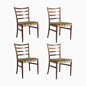 Danish Rosewood Dining Chairs by Johannes Andersen for SVA Møbler, Set of 4