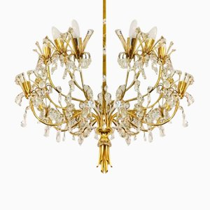 Large Chandelier by J. & L. Lobmeyr, 1970s