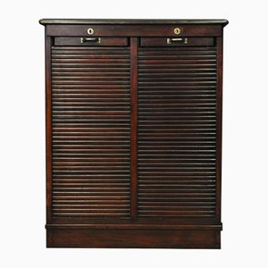 Edwardian Double Tambour Door Cabinet, 1905