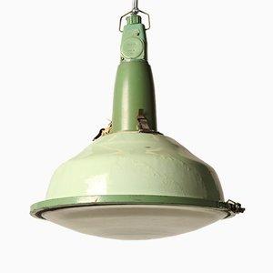 Lámpara colgante rusa vintage en verde lima