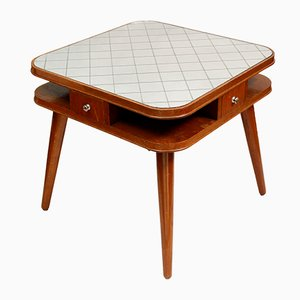 Art Deco Czech Card Table, 1950s