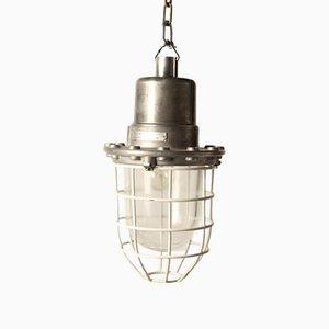 Lámpara colgante vintage de acero con tornillos