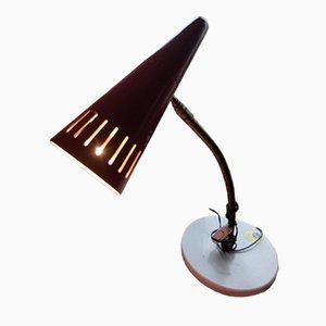Lámpara de mesa vintage roja de Stilnovo
