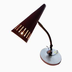 Red Vintage Table Lamp from Stilnovo