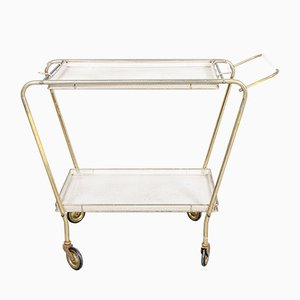 Italian Mid-Century Brass and Metal Serving Trolley, 1950s