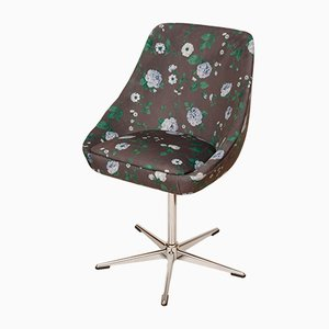 Chaise Pivotante Vintage avec Tissu Floral