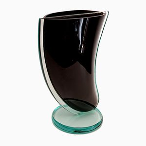 Large Glass Sculptural Vase, 1970s