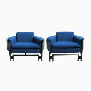 Postmodern Lounge Armchairs, 1980s, Set of 2