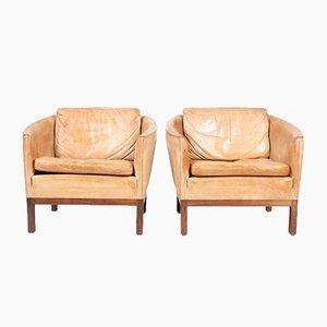 Vintage Lounge Chairs by Illum Wikkelsø for Holger Christensen, Set of 2