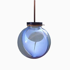 Lampada a sospensione Membrane Mid-Century con sfera in vetro di Murano di Toni Zuccheri per Venini