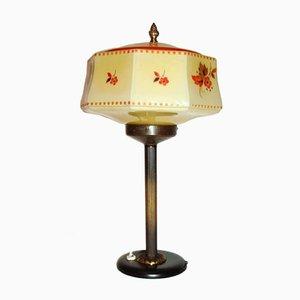 Lampada vintage Art Déco in ottone