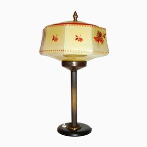 Vintage Art Deco Messing Lampe