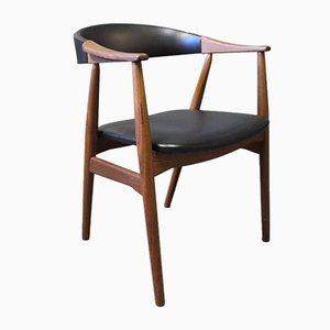 Danish Teak & Artificial Leather Armchair, 1960s