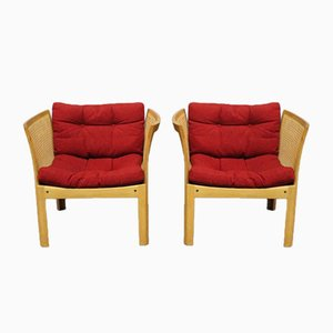 Oak Easy Chairs by Rud Thygesen & Johnny Sørensen for CFC Silkeborg, 1960s, Set of 2