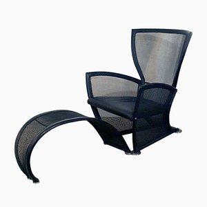 Privè Lounge Chair & Ottoman by Paolo Nava for Alias, 1980s