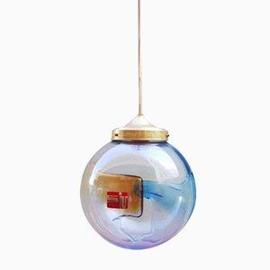 Lampada a sospensione a sfera Membrane vintage in vetro di Murano di Toni Zuccheri per Venini