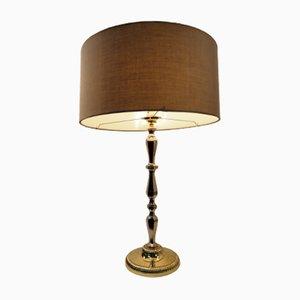 Lampe de Table Vintage Moderniste en Laiton à Dorures, 1970s