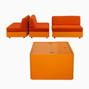 Vintage Studioline Living Room Set by Verner Panton for France & Søn