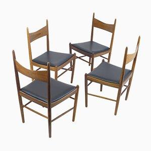 Sedie da pranzo di Illum Wikkelso per Vestervig Eriksen, anni '60, set di 4