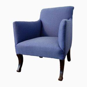 Vintage Sessel mit Rückenlehne in Schlittenform, 1950er