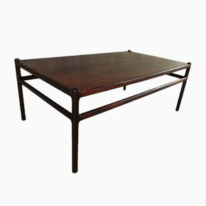 Solid Rosewood Coffee Table by Johannes Andersen for Silkeborg, 1960s