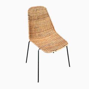 Chaise Vintage en Osier par Gian Franco Legler