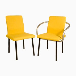 Vintage Italian Mandarin Chair and Armchair by Ettore Sottsass, 1980s