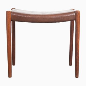 Mid-Century Model 80A Stool by Niels Otto Moller for J.L Mollers