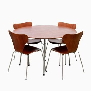 Model 3600 Dining Set by Arne Jacobsen for Fritz Hansen
