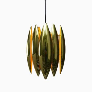 Kastor Brass Ceiling Pendant by Jo Hammerborg for Fog & Mørup, 1969