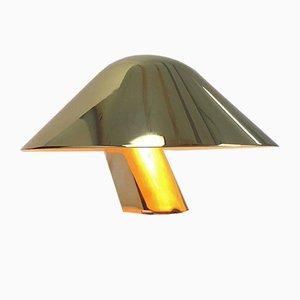 Dänische Wandlampe aus Solidem Messing von Lyskaer, 1970er