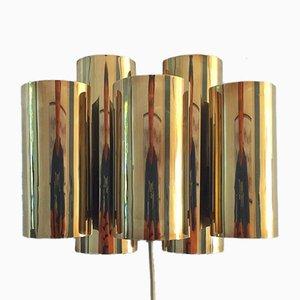 Mid-Century Messing Wandlampe von Svend Aage Holm Sørensen