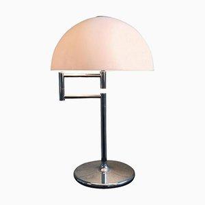Lampe de Table Vintage en Chrome avec Bras Articulé