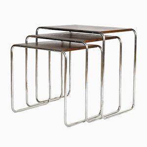 Tavolini a incastro B9 di Marcel Breuer per Mücke-Melder