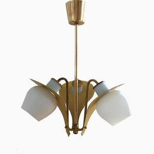 Lámpara colgante danesa Mid-Century de Bent Karlby para Lyfa