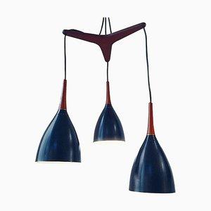 Mid-Century Danish Teak Pendant Lamp by Svend Aage Holm Sørensen for Stilnovo