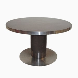 Table Ronde Marron par Mario Sabot, 1970s